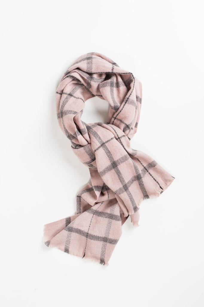 Laurel Pink Plaid Scarf Scarves ANA