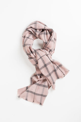 Laurel Pink Plaid Scarf
