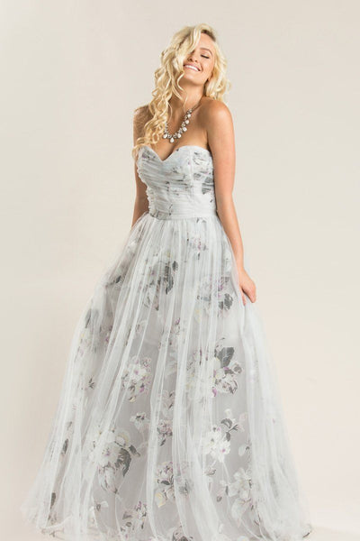 Ellen Floral Tulle Maxi Dress Dresses Maniju Grey Small