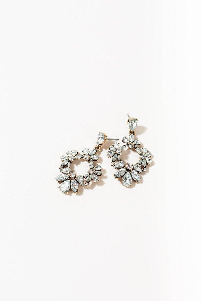 Nancy Crystal Adorned Hoop Earrings Earrings Joia