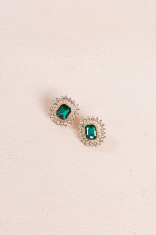 Simone Emerald Crystal Earrings