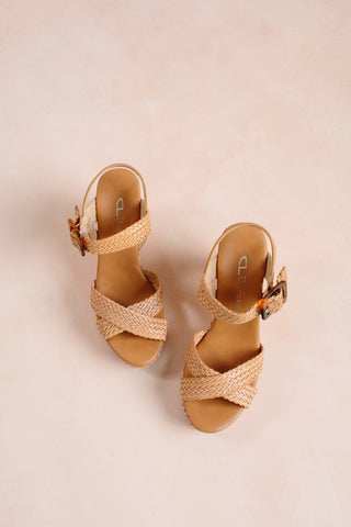Chinese Laundry Braid Sandal Wedge Shoes Chinese Laundry