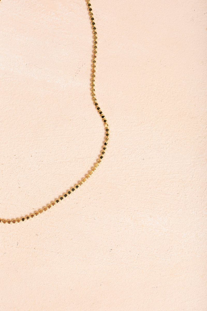 Willow Gold Beaded Necklace Necklaces Joia Gold