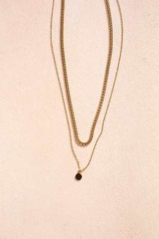 Pam Layered Chain Necklace Necklaces Fame Gold