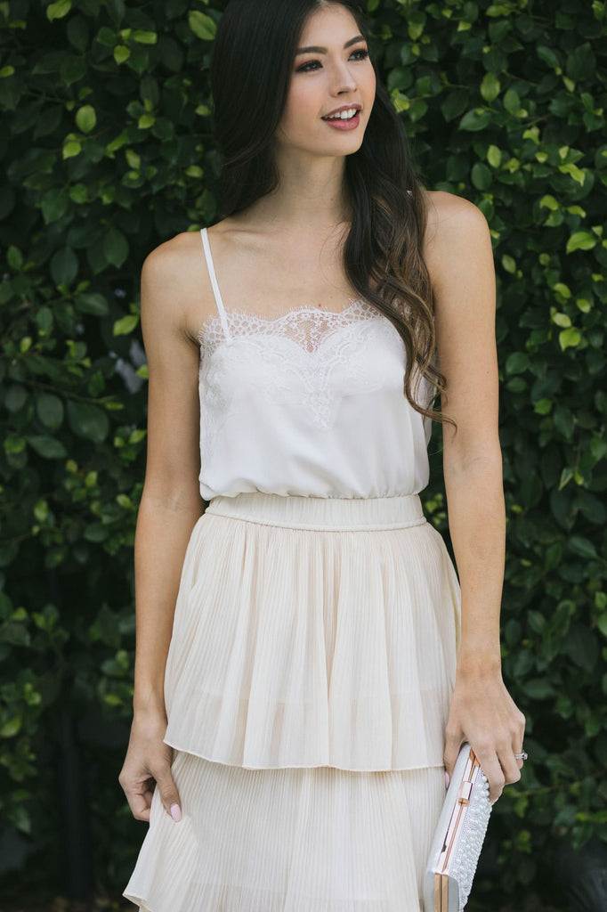 Rosalyn Lace Cami Tops STORIA Ivory Small