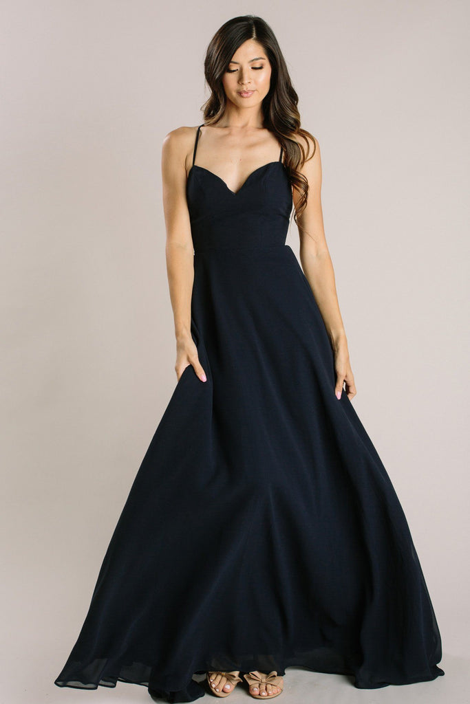 Mia Sweetheart Maxi Dress Dresses Maniju Navy X-Small