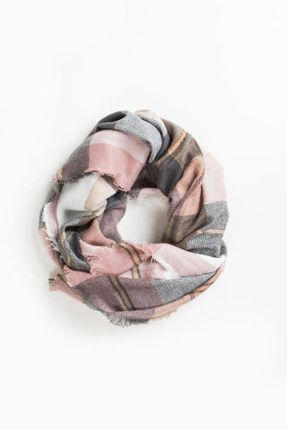 Melissa Blush Plaid Scarf