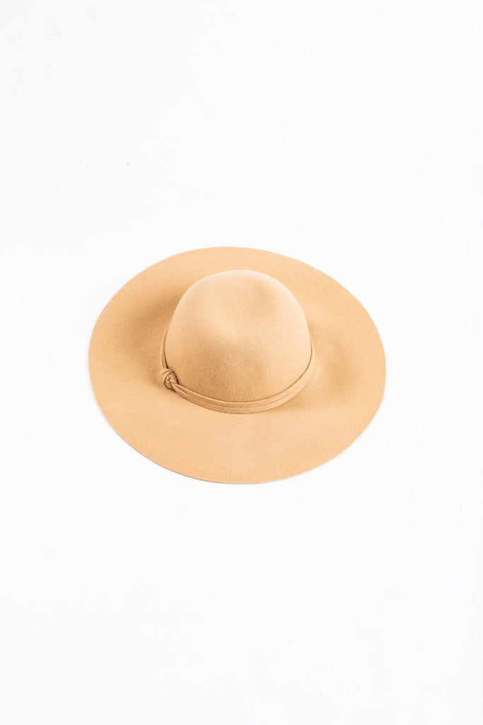 Lettie Light Tan Floppy Hat Hats JOIA