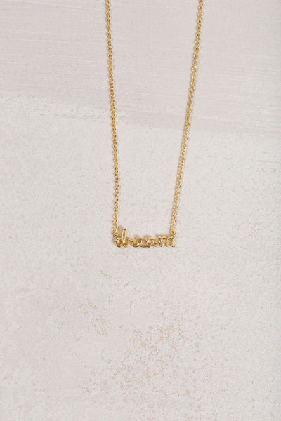 Karla Dream Dainty Gold Necklace Necklaces FAME