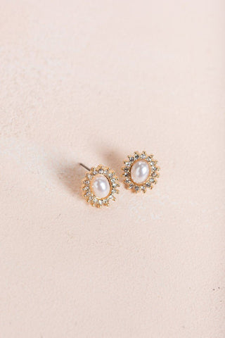 Victoria Crystal Pearl Earrings Earrings Ana
