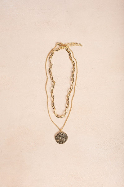 Bella Gold Layered Coin Necklace Necklaces Ana
