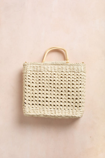 Samantha Straw Square Bag Handbags Fame Natural