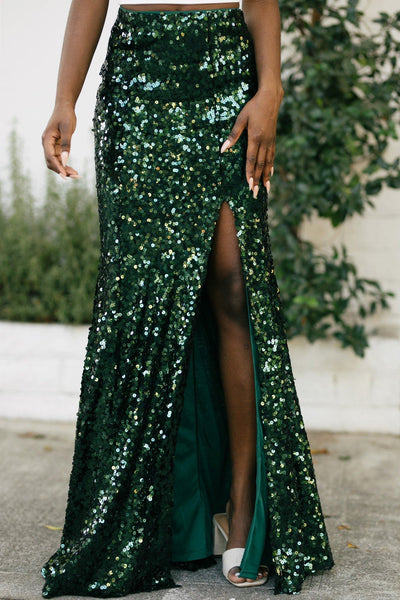 Josie Sequin Maxi Skirt Skirts Maniju Hunter Green Small