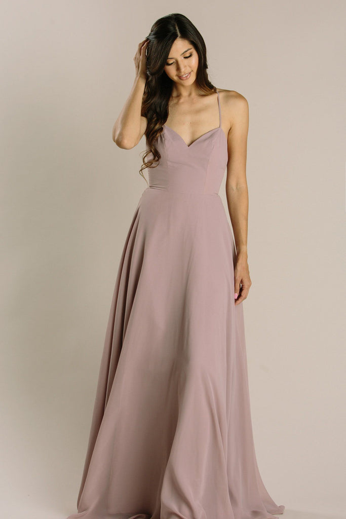 Mia Sweetheart Maxi Dress Dresses Maniju Mauve X-Small