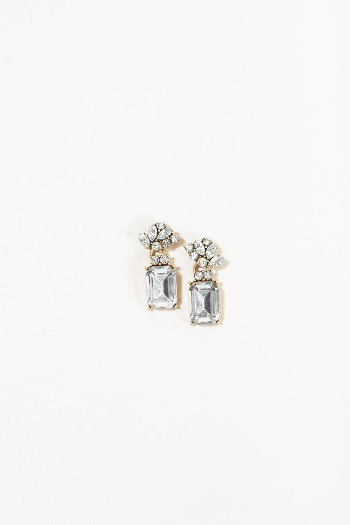 Mary Crystal Aqua Earrings