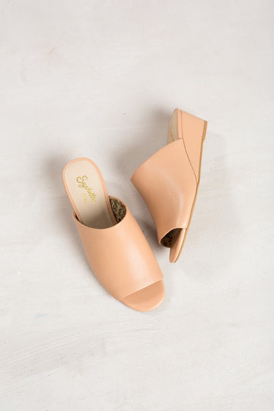 Seychelles Vendor Leather Mule Wedges Shoes Seychelles