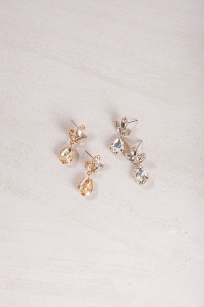 Maisie Crystal Teardrop Earrings Earrings Ana