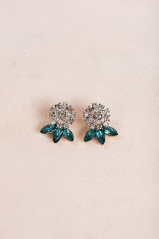 Lizzie Green Crystal Earrings Earrings Joia