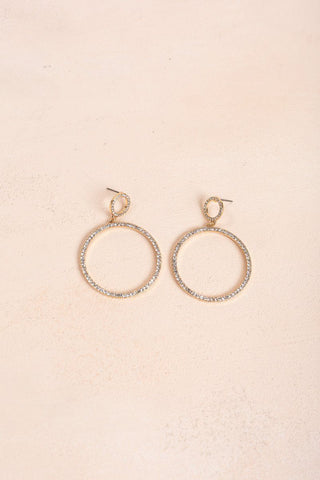 Julia Crystal Hang Earrings Earrings Ana
