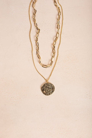 Bella Gold Layered Coin Necklace Necklaces Ana Gold