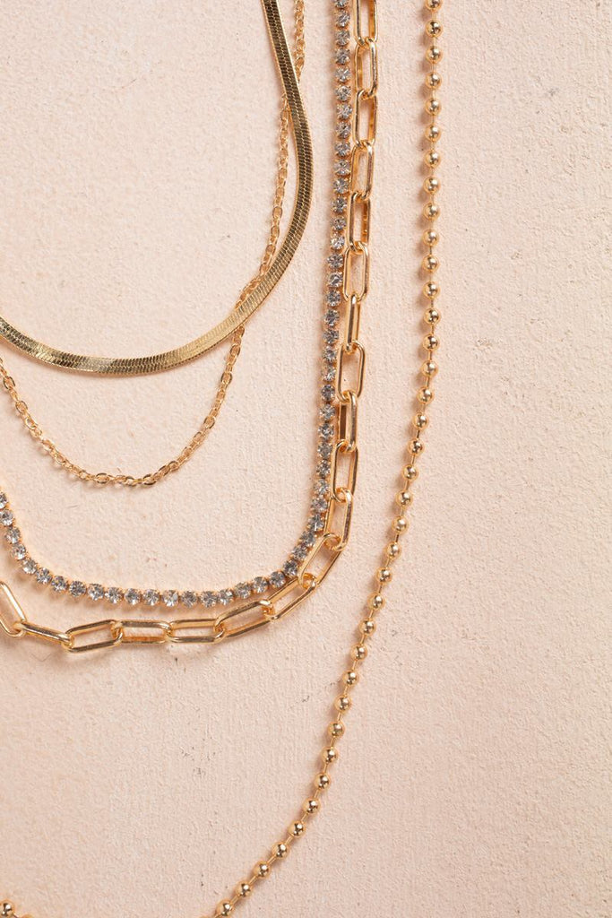 Gia Multi Layered Chain Necklace Necklaces Fame