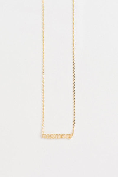 Thea Mommy Dainty Gold Necklace Necklaces FAME