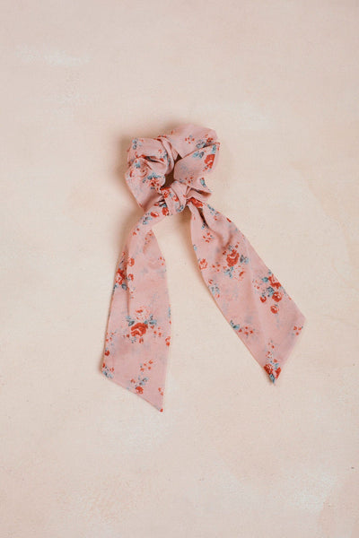 Daphne Floral Ribbon Scrunchie Hair Space 46 Rose