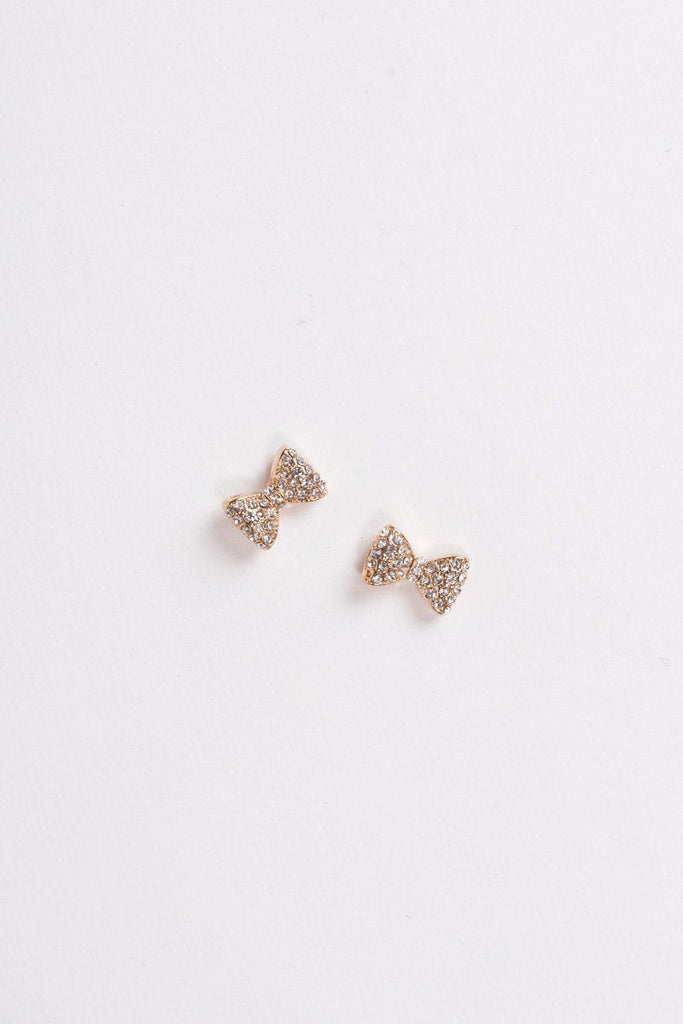 Cammie Crystal Bow Earrings