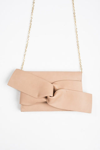 Kori Brown Knot Clutch