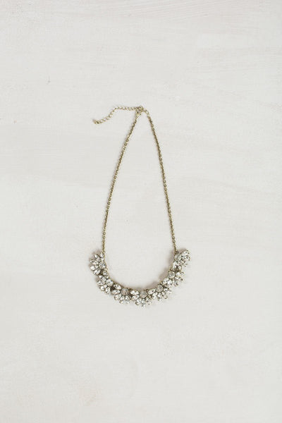 Ellen Crystal Flower Statement Necklace Necklaces Ana Crystal