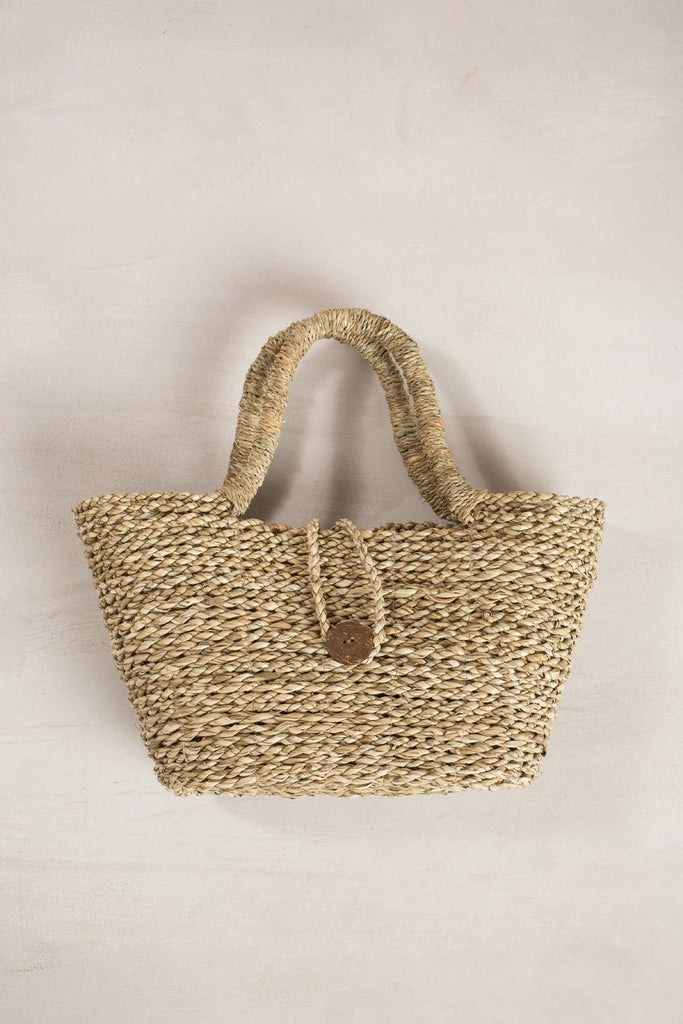 Gemma Medium Straw Handle Bag