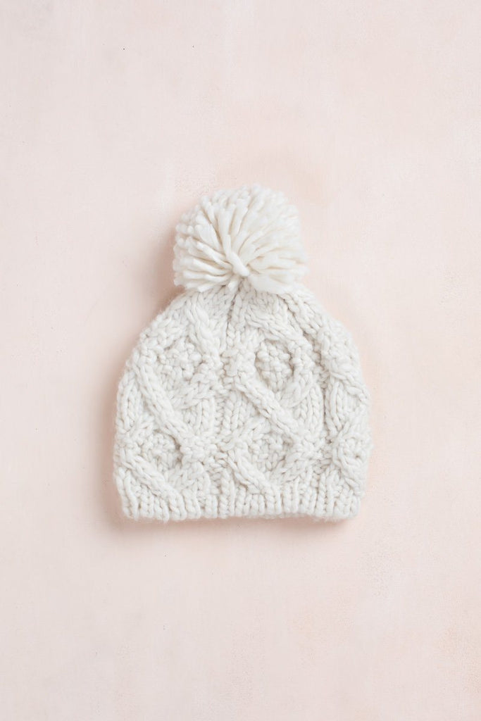 Penelope Knit Beanie Hats Fame Ivory