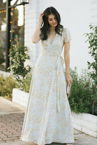 Caroline Floral Maxi Dress Dresses Aakaa