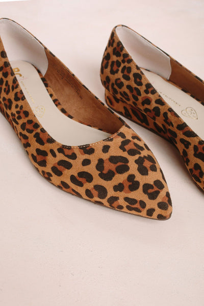 Role Model Leopard Suede Wedge Flats Shoes Seychelles Leopard 6