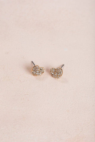 Minnie Crystal Heart Earrings Earrings Joia