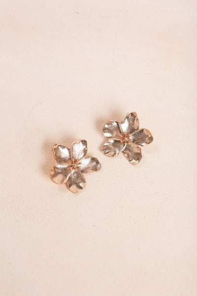 Eileen Flower Earrings Earrings Fame Rose Gold