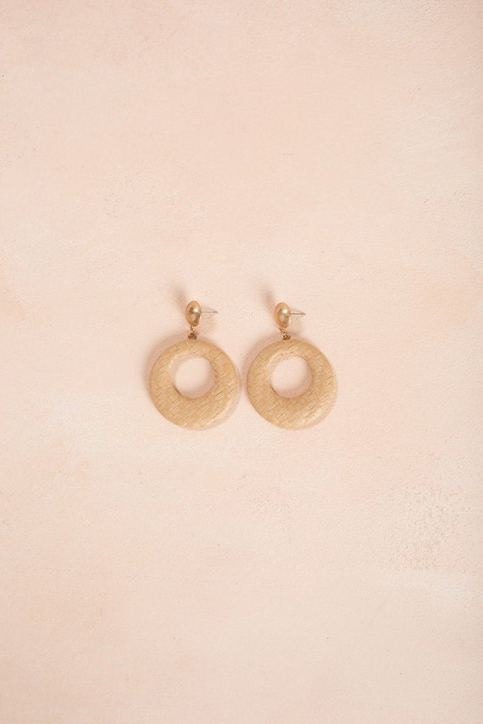 Kennedy Straw Hoop Earrings Earrings Fame Straw