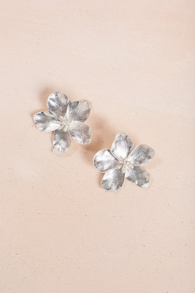 Eileen Flower Earrings Earrings Fame Silver