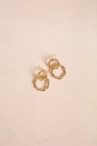 Valentina Twisted Hoop Link Earrings Earrings Fame