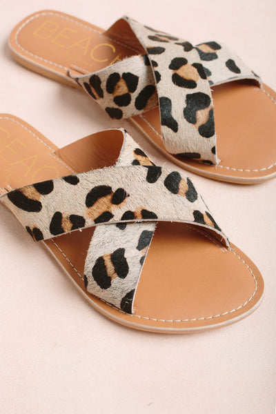 Matisse Pebble Sandals Shoes Morning Lavender Leopard/Cow Hair 6