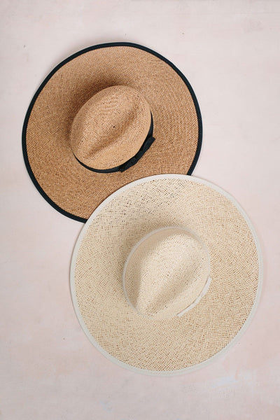 Chrissy Straw Wide Brim Bow Hat Hats Fame