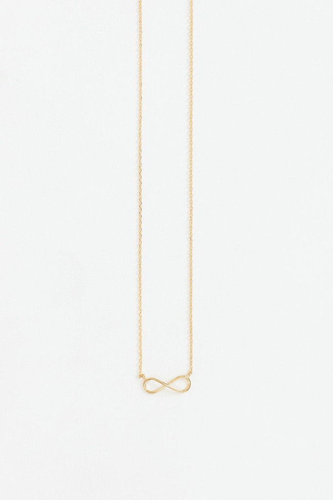 Tori Gold Infinity Necklace Necklaces Morning Lavender
