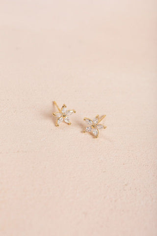 Gloria Mini Crystal Flower Earrings Earrings Joia Crystal