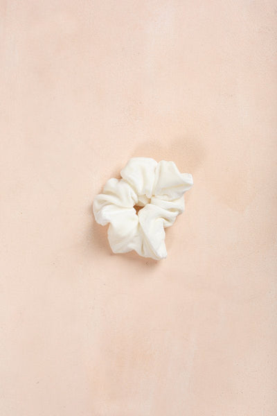 Sophie Velvet Scrunchie Accessories Fame Cream
