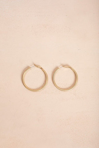 Natalie Gold Hoop Earrings Earrings Joia