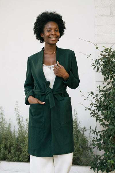 Carrie Two Pocket Long Coat Outerwear JAX Green Small