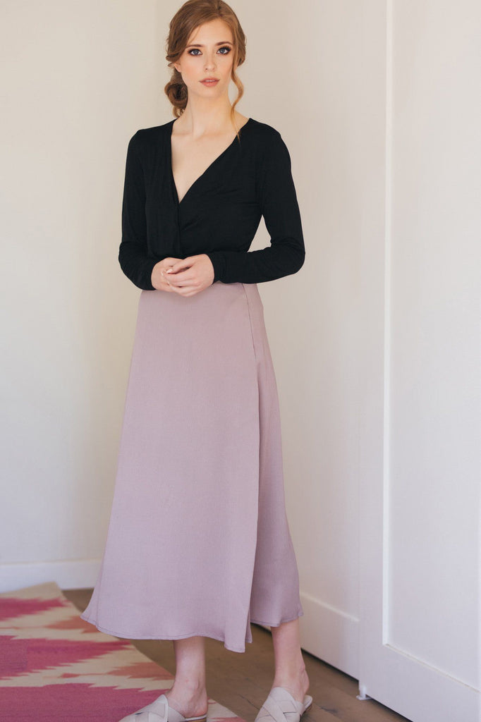 Marion Textured Midi Skirt Skirts Listicle Light Mauve Small