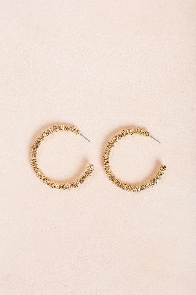 Lori Gold Hoop Earrings Earrings JOIA Gold