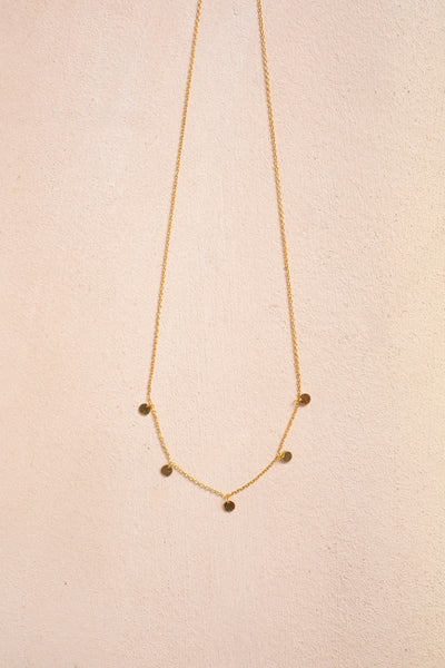 Emma Floating Bead Dainty Necklace Necklaces Fame Gold