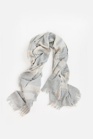 Catherine Grey & Cream Plaid Scarf